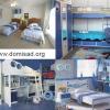 Дизайн интерьера детской комнаты и мебели в морском стиле своими руками.